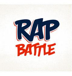 Rap battle typing music theme logo vector
