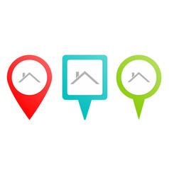 ropin icon multicolor pin icon vector image