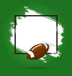 rugfootball american sport ball and tournament vector image