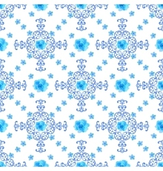 Seamless floral background Isolated blue flowers vector