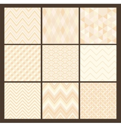 Seamless white geometric hipster background set vector