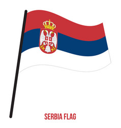 Serbia flag waving on white background vector
