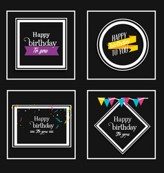 set birthday frames with decoration vector image