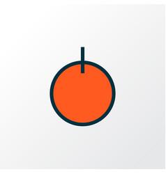 Start button icon colored line symbol premium vector