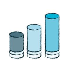 statistics trend growing vector image