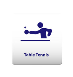 table tennis sport symbol stickman solid icon vector image