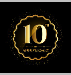 tenth year anniversary celebration logotype vector image