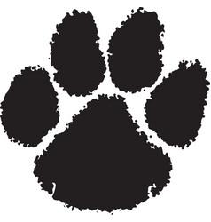 Tiger paw logo mascot vector