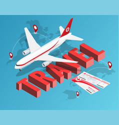 to travel is to live tickets and passenger vector image