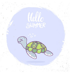 Turtle summer vector