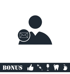 User mail icon flat vector image