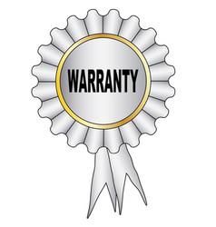White warranty rosette vector