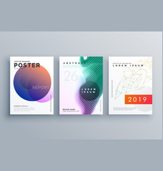brochure templates set in minimal style for vector image vector image