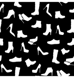 Shoes Silhouette Seamless Pattern Background vector image vector image