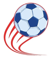soccer ball poster vector image vector image