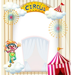 A clown in the circus vector image vector image
