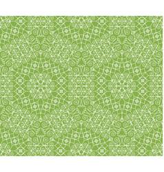 greenery geometric ornament seamless pattern vector image