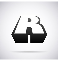logo for letter R Design template vector image