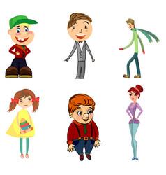 Six funny characters vector