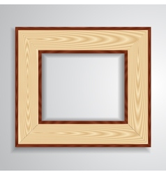 Vintage isolated blank frame vector image