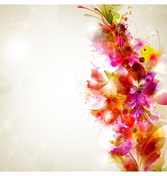flower and design vector image vector image