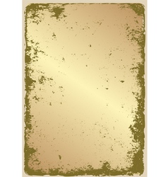 grunge gold vector image vector image