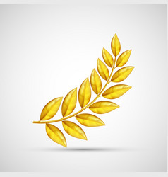 icon gold olive branch symbol of victory and vector image vector image