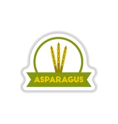 Label icon on design sticker collection asparagus vector image vector image
