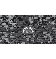 old cracked brick wall vector image