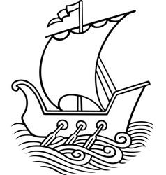 Sail ship vector image vector image