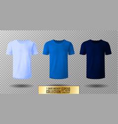 shirt mock up set t-shirt template light normal vector image vector image