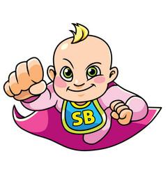 super baby girl flying vector image vector image