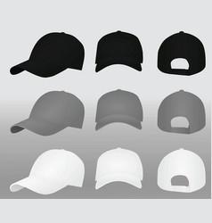 baseball caps template vector image
