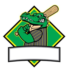 crocodille baseball player vector image