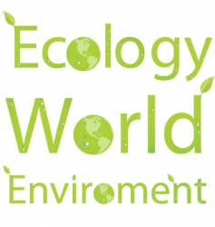 eco titles vector image vector image