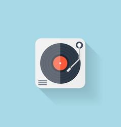 Flat web icon Vinyl player vector image vector image