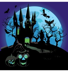 Haunted Halloween Castle vector image vector image