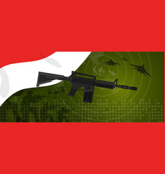 indonesia military power army defense industry war vector image vector image