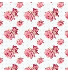 Watercolor Delicate Roses vector image