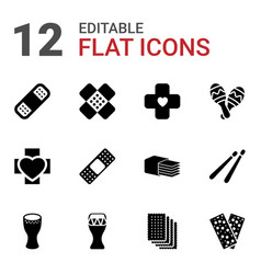 12 band icons vector