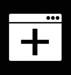 Add new window icon idesign vector