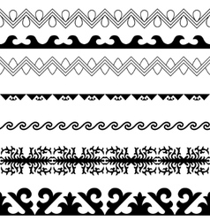 Asian ornaments collection Historically vector