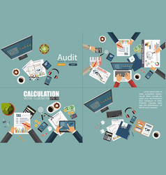 Auditing concept realistic design accounting vector