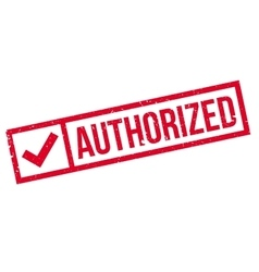 Authorized stamp rubber grunge vector image