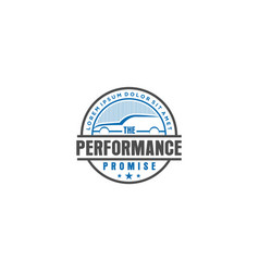 Automotive logo vintage design - workshop garage vector
