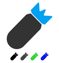 Aviation bomb flat icon vector