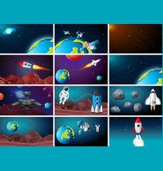 Big space background scene set vector
