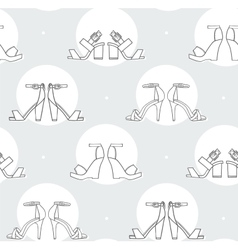 Black and white with sandals vector