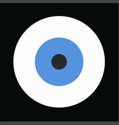 Blue evil eye on black background vector