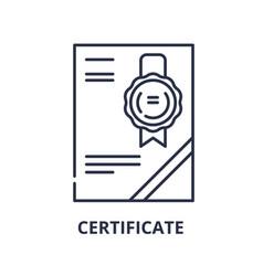 cerificate line icon concept cerificate vector image